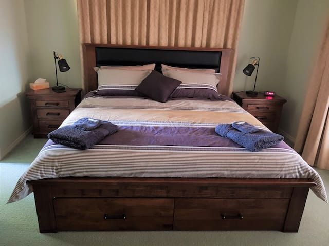 Bedroom 1 with king size bed and ensuite