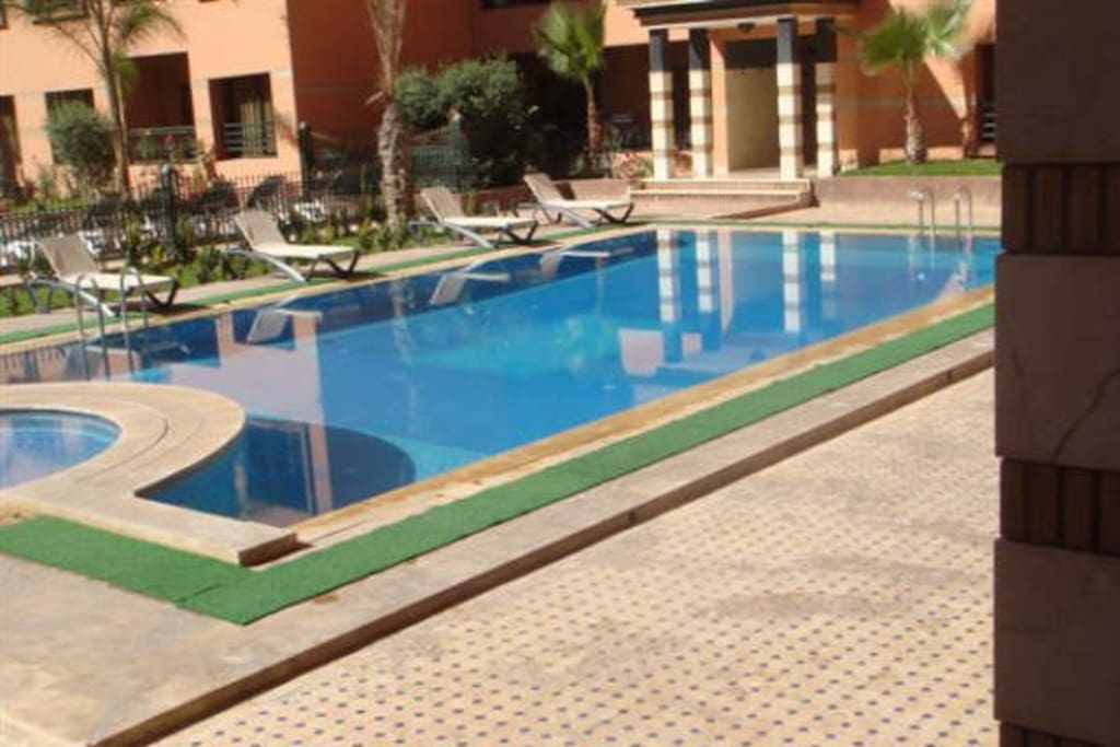 The lovely swimming pool within the residence