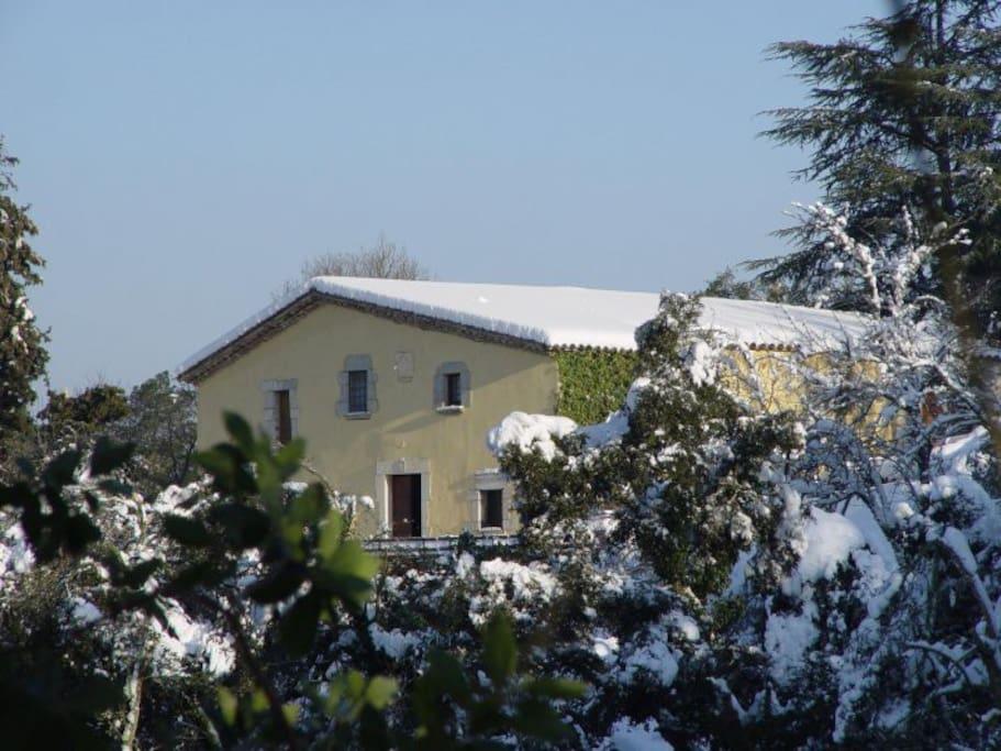 La casa en invierno.