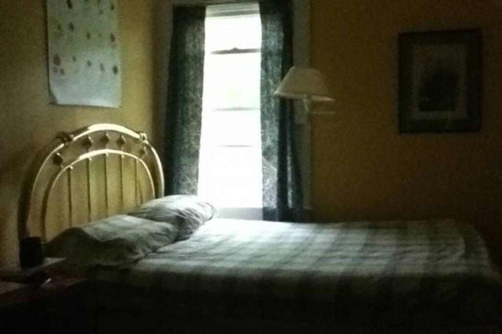 Your bedroom facing back garden