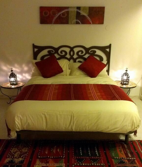 Een comfortable bed. A comfy bed