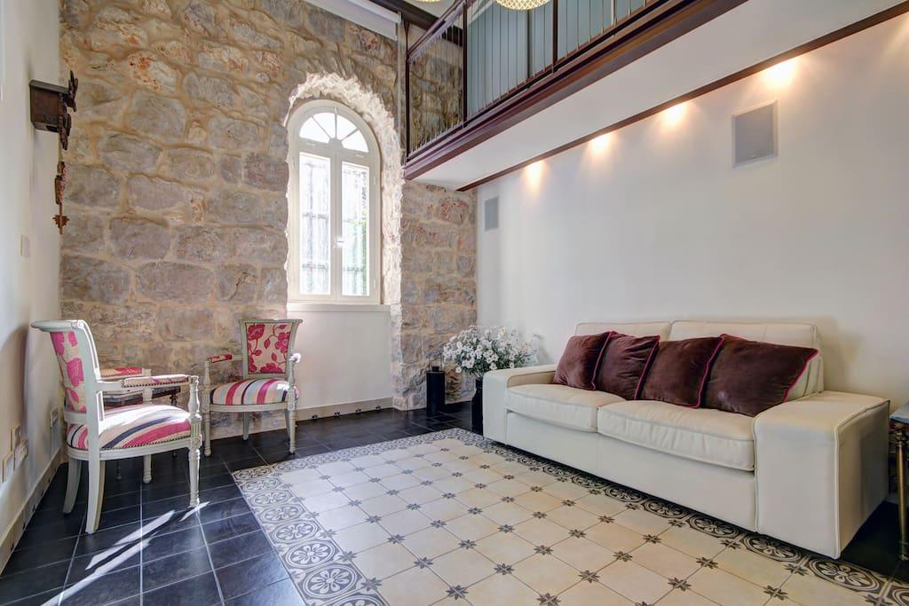 Renovated Original Templer House Living Room