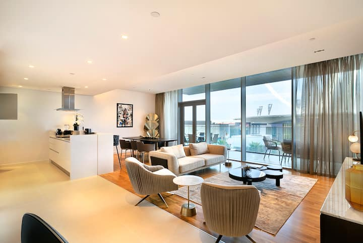 Premium 2BR in Bluewaters, Oceanfront Living