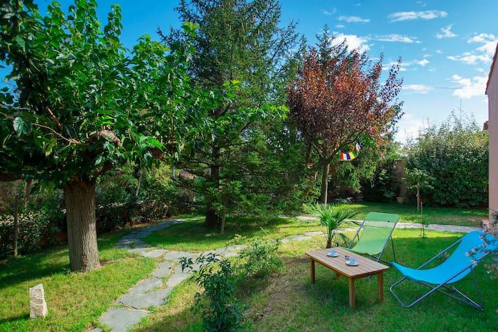 Maison près d'Avignon, avec jardin arboré et chat! - Saint-Saturnin-lès-Avignon - Casa