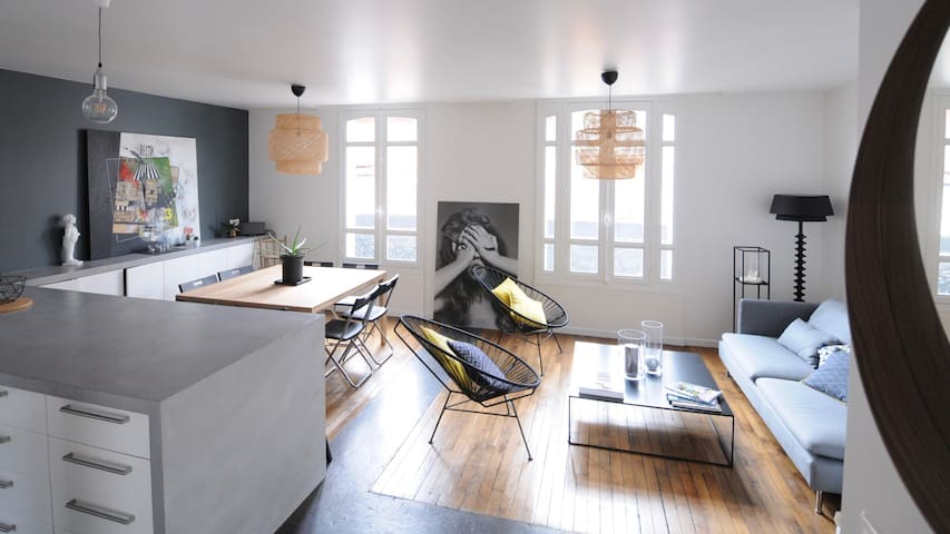 Lovely house with terrace and patio - Clichy - House