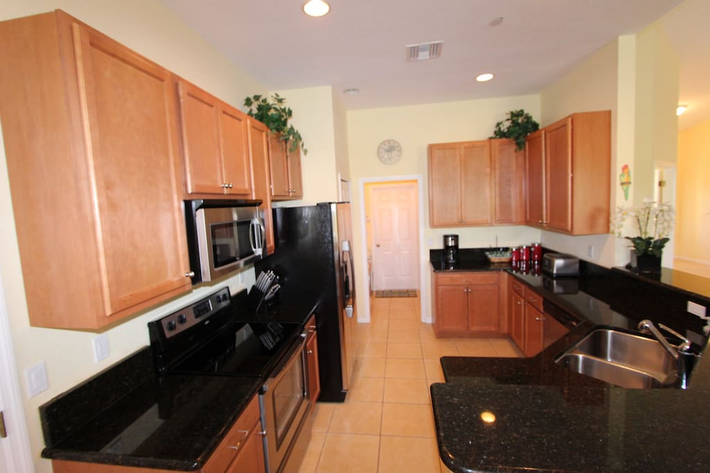 Large upgraded and fully equipped kitchen