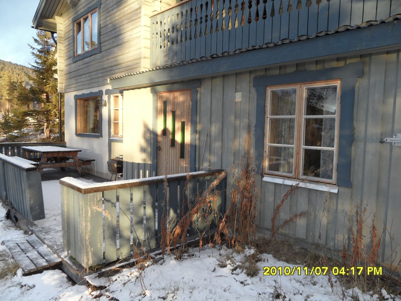 Entrance to the cabin. OBS the veranda is removed due renovation