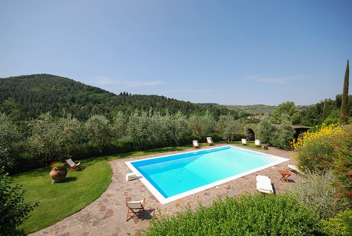 Elegant Tuscan villa with pool and park