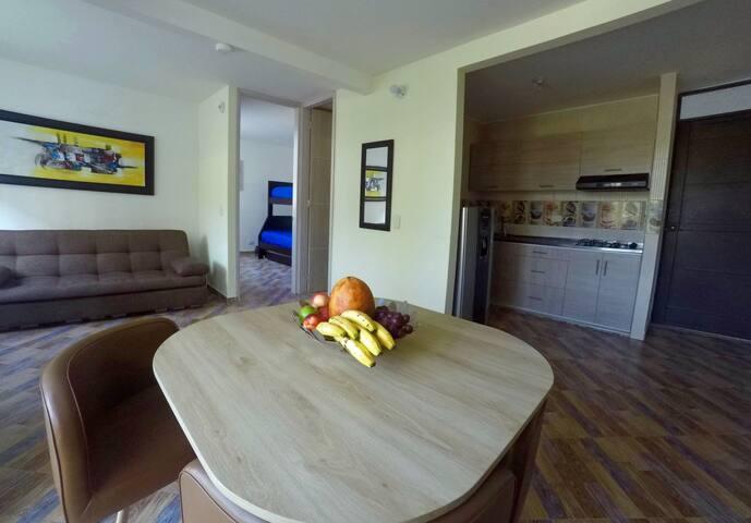 Nuevo bello apartmento para descansar en Ricaurte