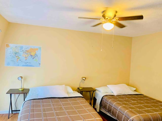 2 Beds in Beautiful Room, 5 Points, No Extra Fees