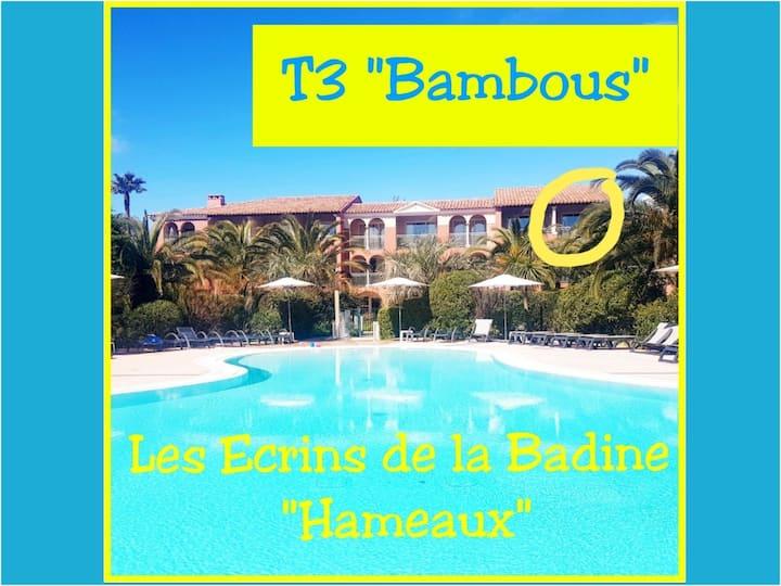 T3 Bambous 7pers-Ecrins delaBadine-piscine/plage