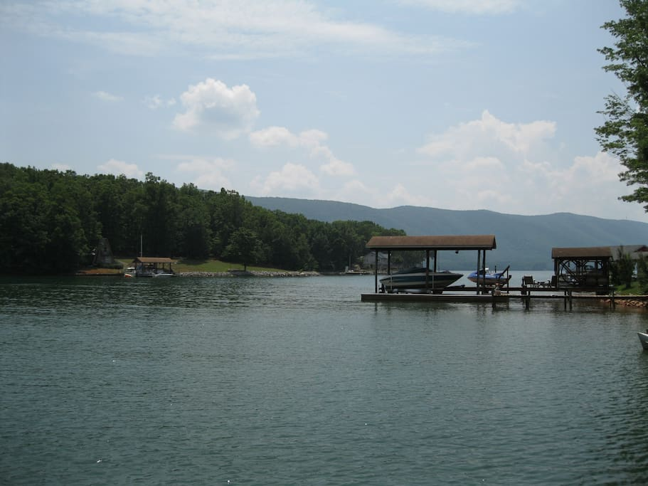 View of Smith Mountain Lake from Dock