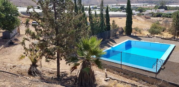 """Cortijo rural  piscina privada""""El Altosano Almeria"""