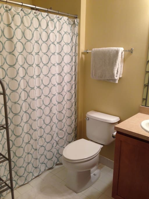 Private bathroom adjacent to the bedroom.