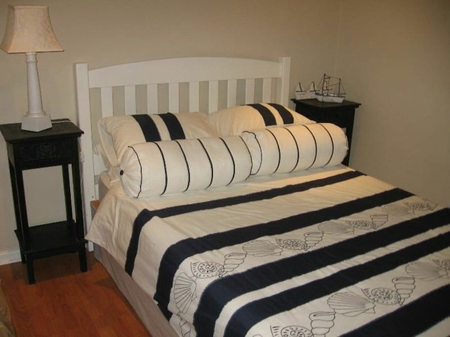 Double bedroom with beautiful cotton linen