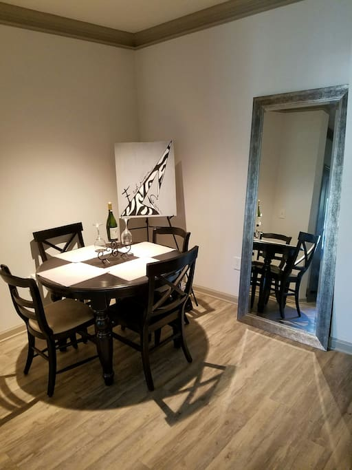 Dining room available with romantic setting!