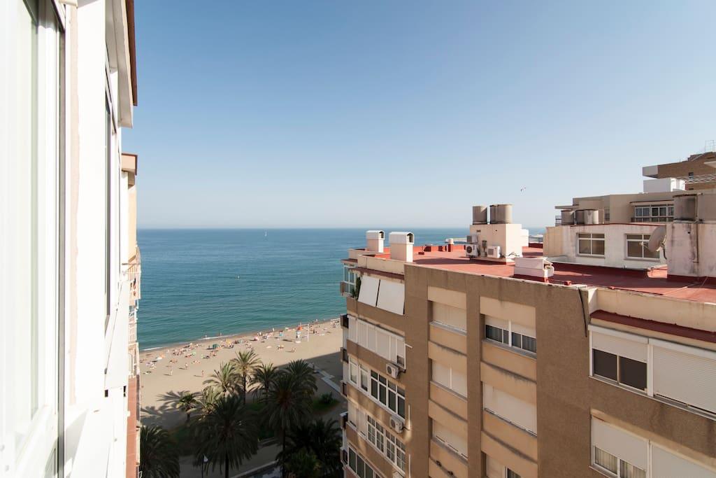 Vistas a la playa desde el salón