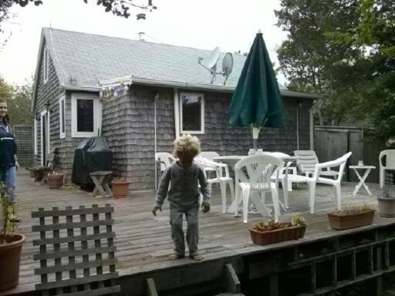Big deck in the back, child not included!