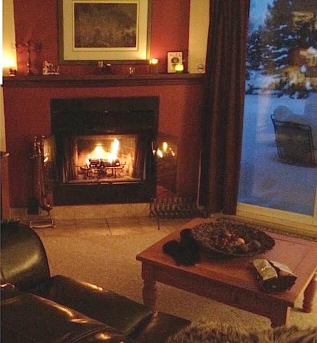 Cozy fireplace.....