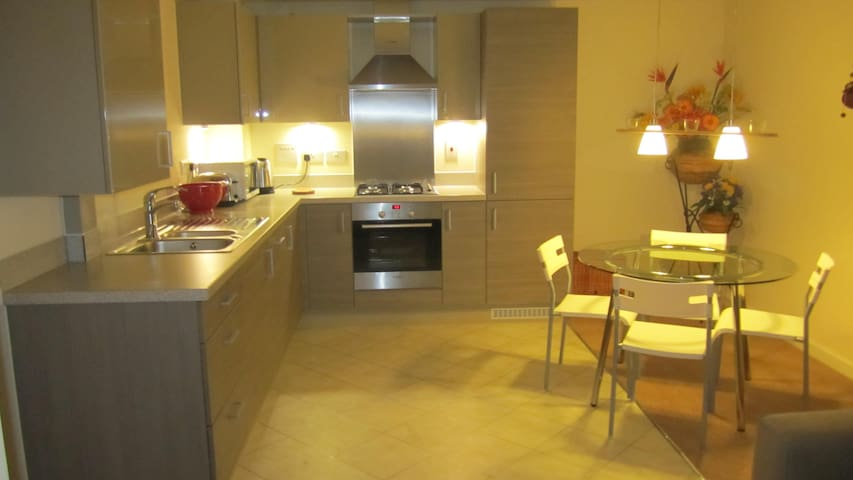 Contemporary 2 bed 2 bath apartment - Kingston upon Thames - Daire