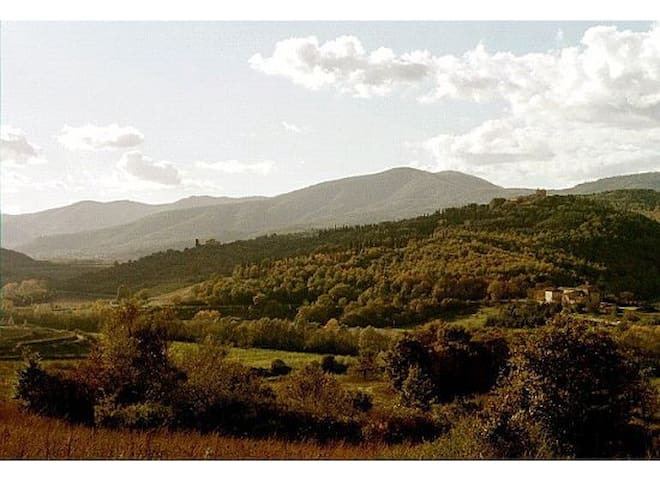 Country farmhouse 2 bdrm apartment - Cortona - Casa