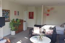 Sunny, private 2 bedroom studio