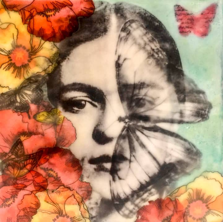 Create using collage with mixed media
