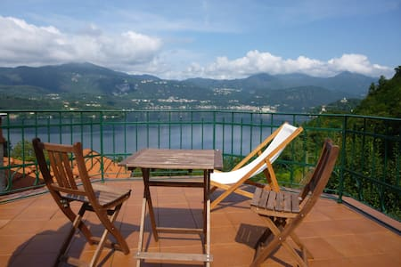 Penthouse Lago d'Orta with terrace - Corconio