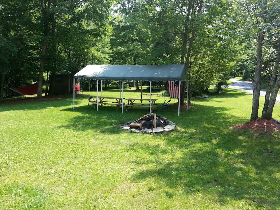 Picnic area and fire pit for summer fun