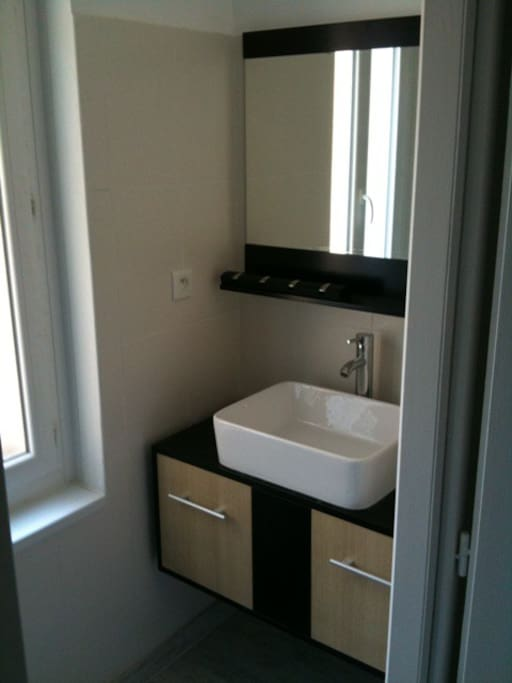 Une salle de bain au look sympa !