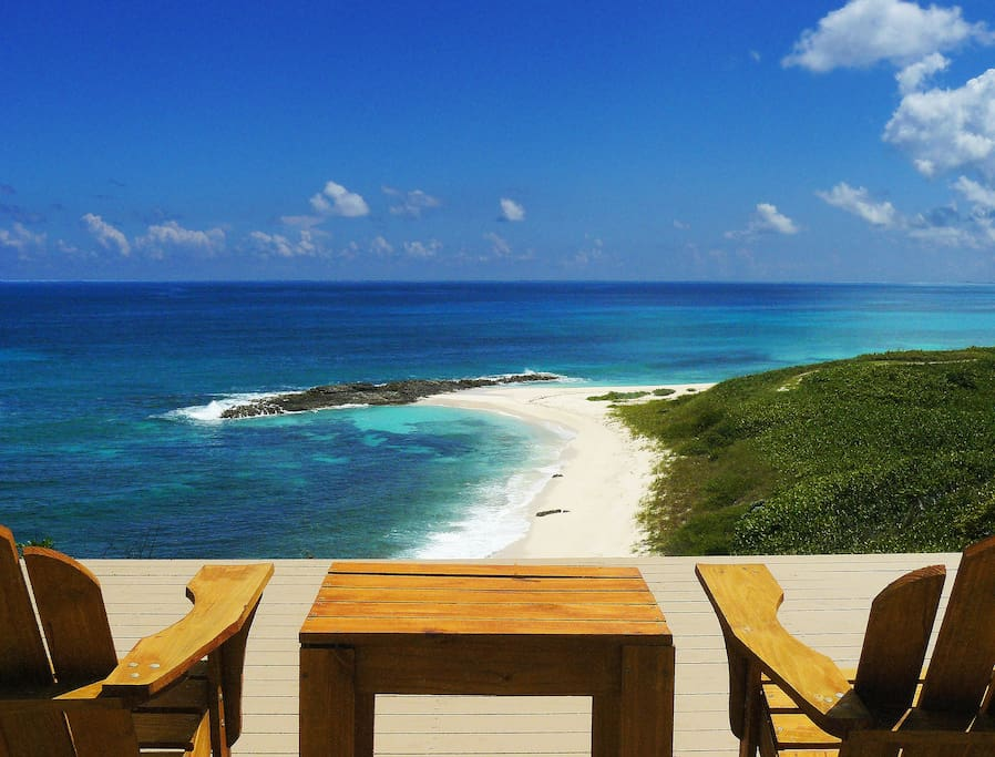 The unbelievably stunning upper deck is the most spectacular view in all of Eleuthera.