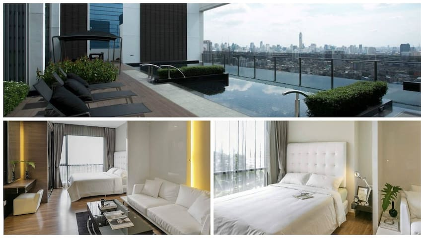 5 Star Luxury Apt. Rooftop Pol, WiFi, MRT, Gym - Bangkok - Byt