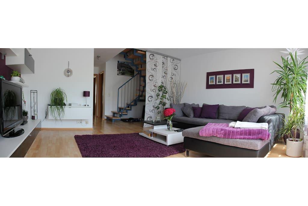 living room 3 - Ansicht von Terrassentür aus