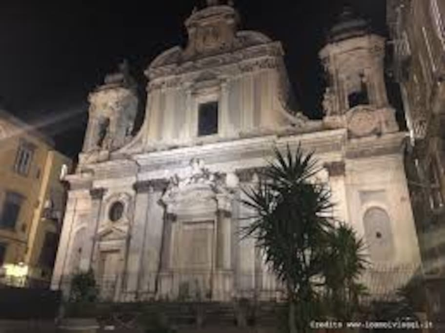 Chiesa dei Gerolomini, di fronte casa...
