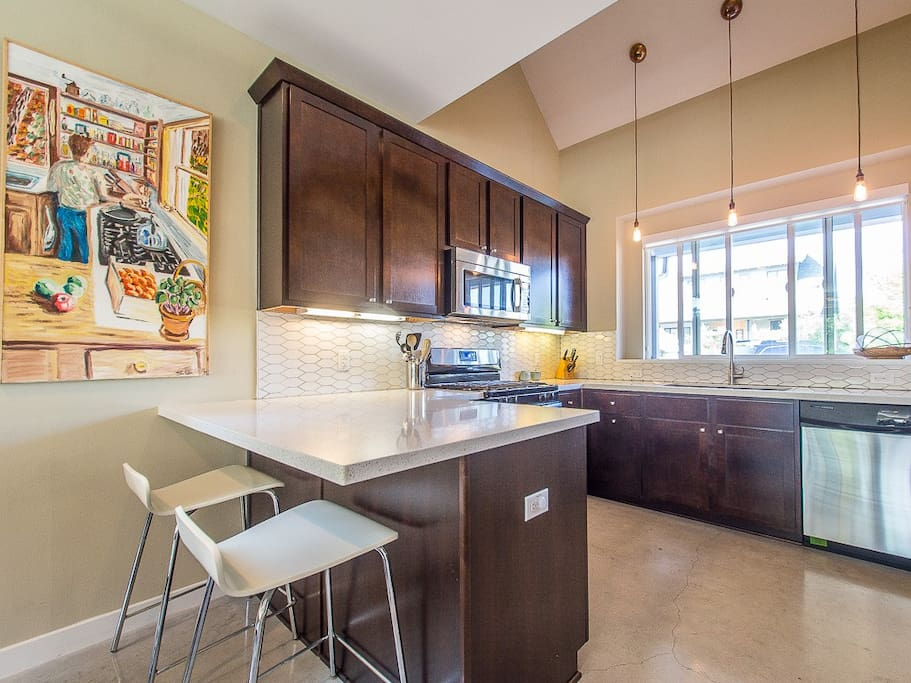 Generous kitchen with all amenities.