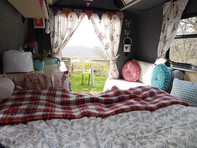"""""""Seas the Day"""" vintage campervan"""