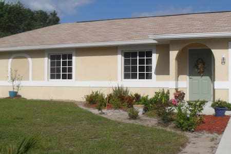 Newer ranch home on quiet street - North Port