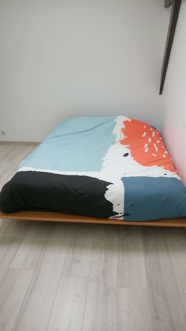 vrai lit en 140cm