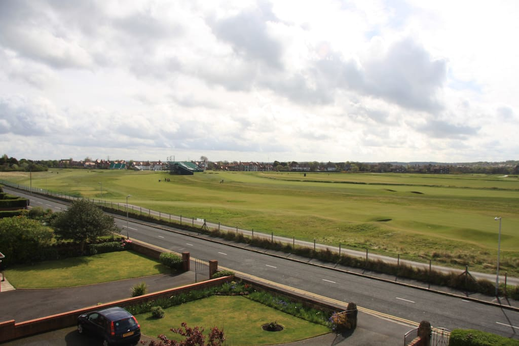 The Royal Liverpool Golf Club. View from house