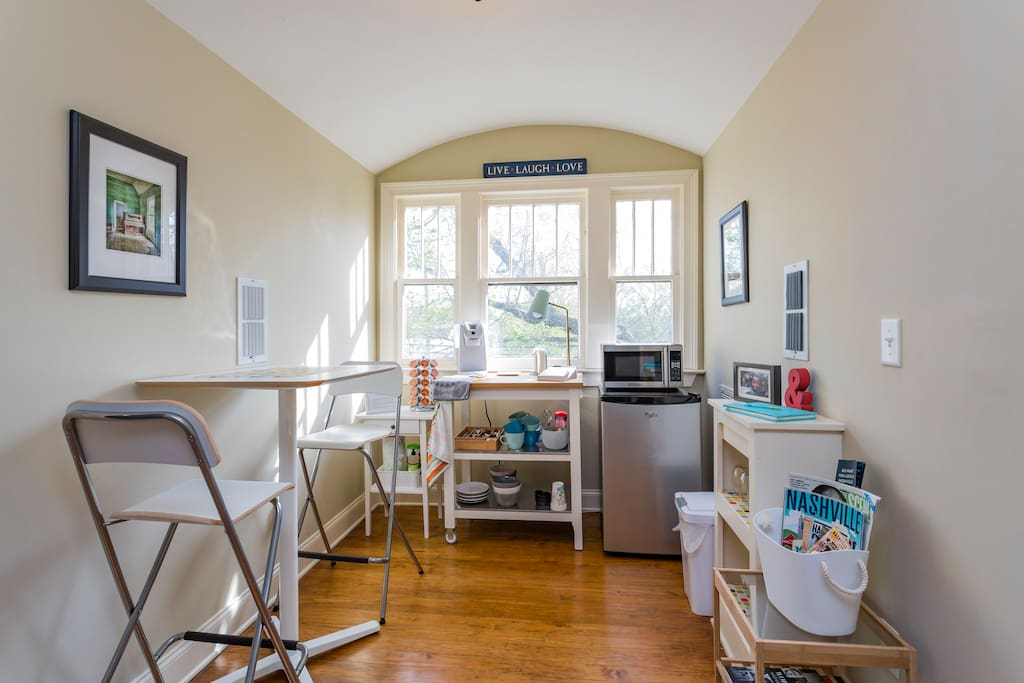 Lovely two-bedroom suite offers a bright, well-stocked kitchenette