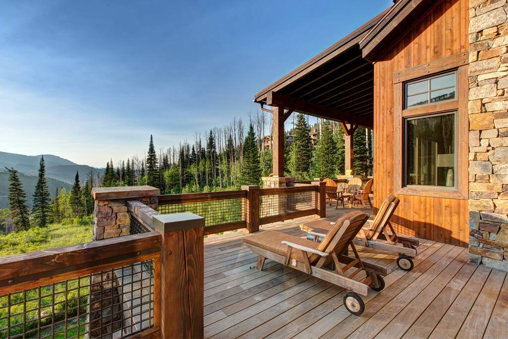 Deck with amazing views