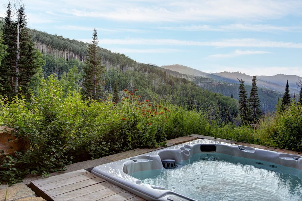 Hot tub with spectacular views