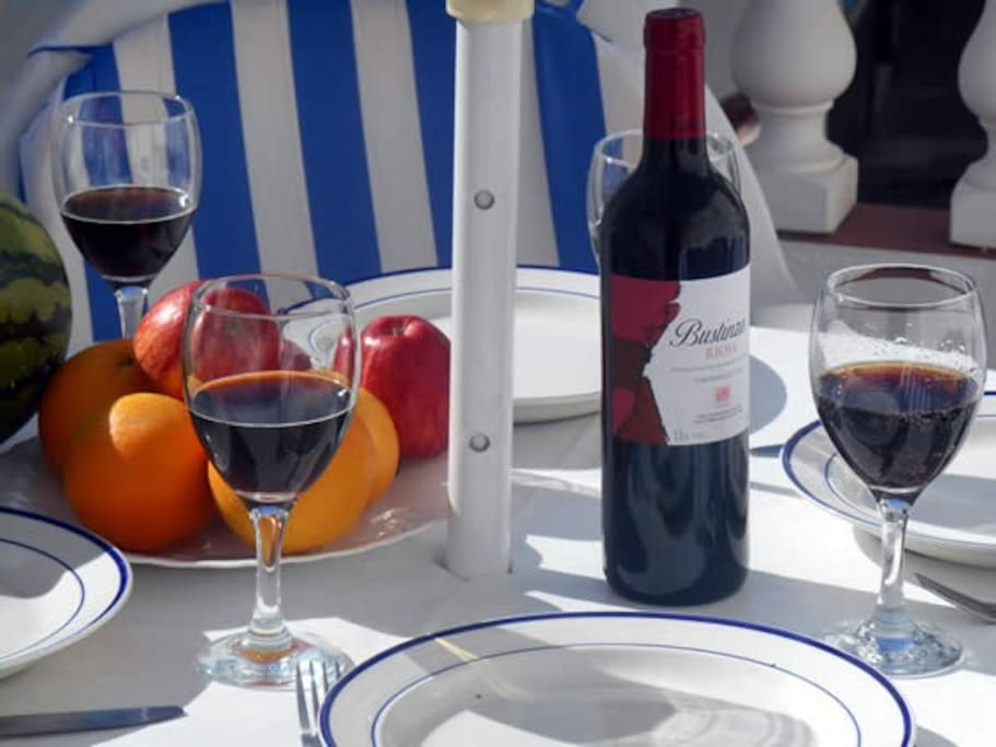 A good bottle of wine and a tasty spanish meal?