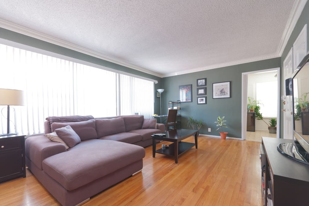 Living Room- Hardwood Flooring throughout.
