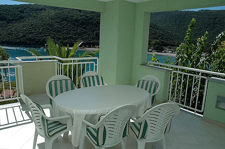 Huge terrace & sea view apartment - Labin - Daire