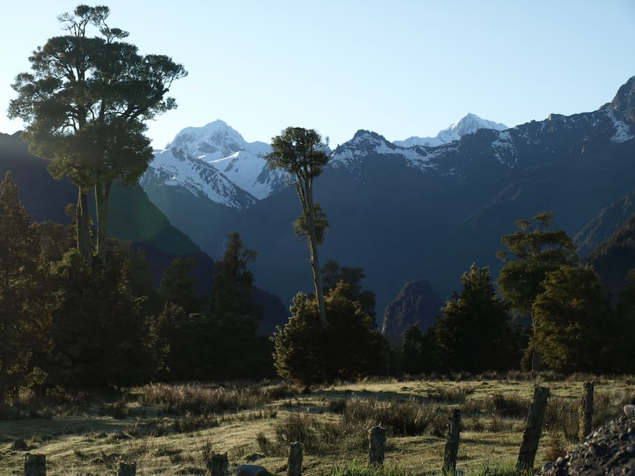 Wake up to these views of Mt cook and Mt Tasman.
