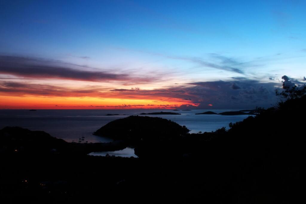 Enjoy amazing sunsets
