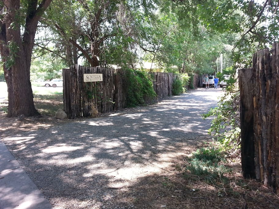 Entrance to Sonterra's private parking area