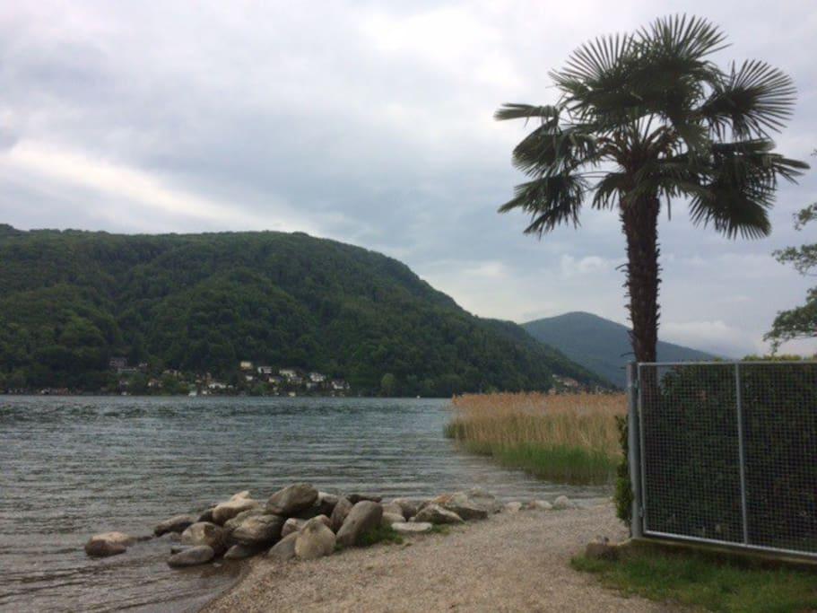 Beach Lake Lugano