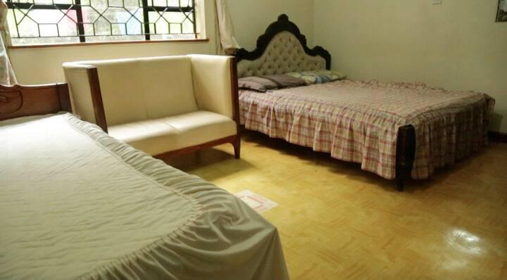 Azima Wellness Retreat Center.Shared room- 2 beds.